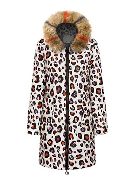 Thin Loose Patchwork Long Women's Cotton Padded Jacket