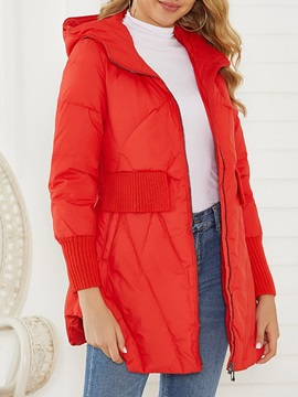 Zipper Loose Mid-Length Women's Cotton Padded Jacket