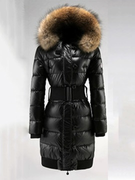 Thick Slim Mid-Length Women's Cotton Padded Jacket