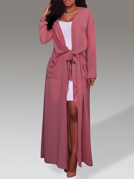 Long Straight Casual Women's Trench Coat