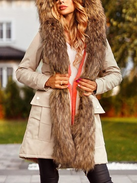 Lace-Up Lace-Up Regular Long Winter Women's Overcoat