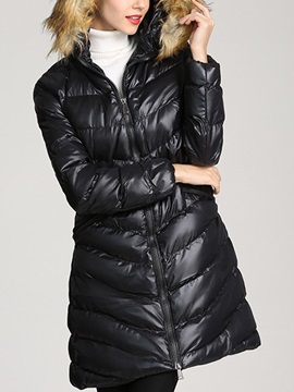 Zipper Slim Zipper Mid-Length Women's Cotton Padded Jacket