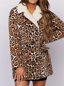 Double-Breasted Loose Patchwork Mid-Length Fall Women's Overcoat