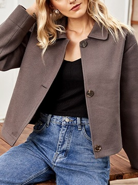 Loose Single-Breasted Thick Lapel Standard Women's Jacket