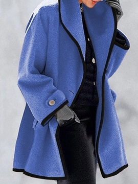 One Button Regular A Line Mid-Length Spring Women's Overcoat
