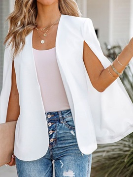 Long Sleeve Wrapped Plain Spring Mid-Length Women's Casual Blazer