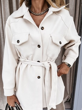 Loose Single-Breasted Button Spring Standard Women's Overcoat