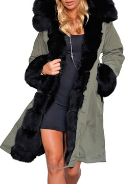 Pocket Straight Thick Long Women's Cotton Padded Jacket