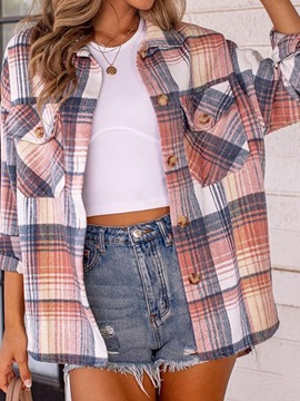 Single-Breasted Long Sleeve Loose Mid-Length Spring Women's Jacket