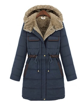 Thick Pocket Single-Breasted Mid-Length Women's Cotton Padded Jacket