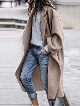 One Button Loose Button Long Spring Women's Overcoat