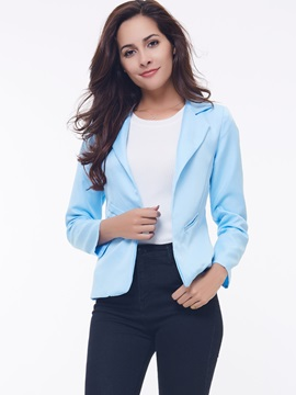Casual Long Sleeves Candy Color All-matched Slim Blazer
