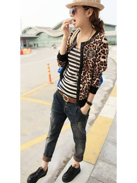 New Charming Leopard Outerwear
