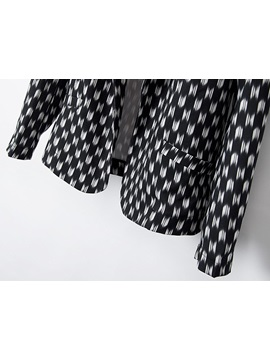 New Cool Polka Dots All-matched Casual Blazer