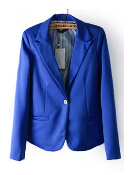 Charming Latest Style Lapel Candy Color One-Button Blazer