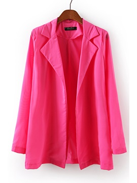 Graceful All-matched Solid Color Long Sleeve Blazer