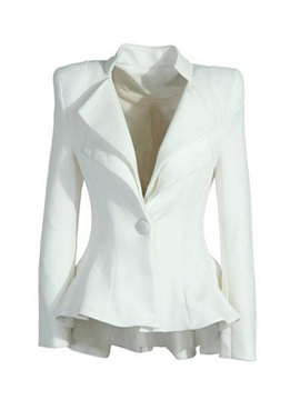 Chic OL Style One Button Lapel Temperament Slim Blazer