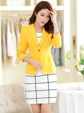 Chic One Button Short Blazer