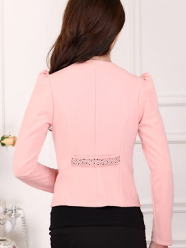Splendid Flower Decoration Double Breasted Blazer