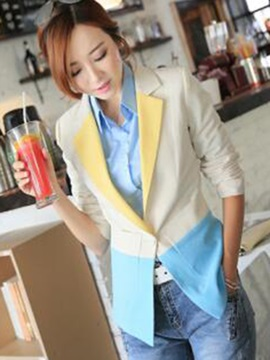 Stylish Color Lapel Slim Blazer