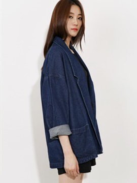 Korean Lapel Loose Denim Blazer
