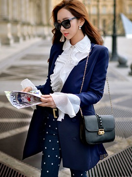 Stylish Multi Color V Neck Mid-Length Blazer