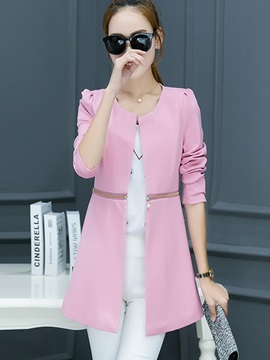 Stylish Zipper Multi Color Slim Blazer