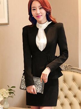 Stylish Hemline Slim Blazer