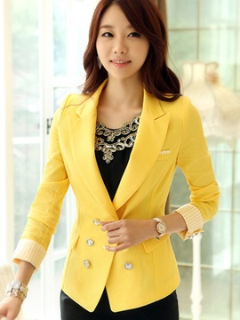 Stylish Double-Breasted Slim Blazer