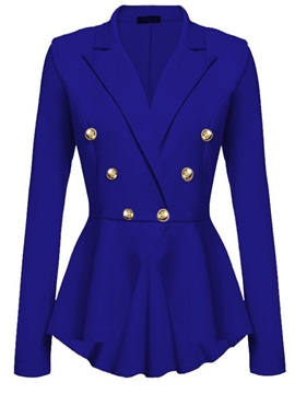 Stylish Button Peplum Blazer
