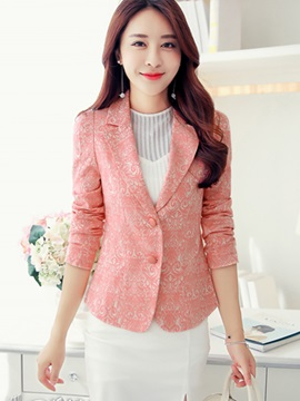 Long Seeve Patchwork Slim Women's Blazer