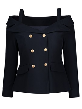 Tidebuy Cold Shoulder Women's Blazer
