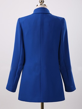Long Sleeve Notched Lapel One Button Women's Blazer