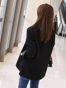 Pure Color Two-Button Women's Blazer