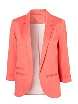 Candy Color 3/4 Sleeve Women's Blazer