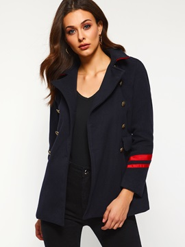 Plain Lapel Double-Breasted Spring Casual Women's Blazer
