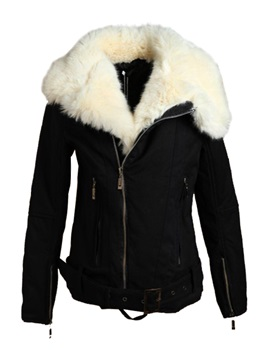 Top Quality Black Cotton Women's Outerwear
