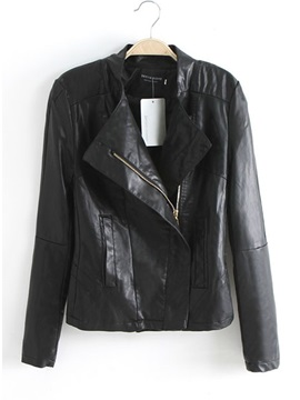 Brilliant Europe Style Casual Leather Lapel Jacket