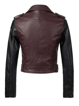 New Deluxe PU Leather Long Sleeves Jacket