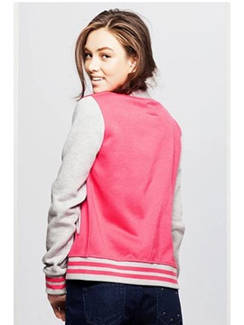 New Chic Block Stand Collar Long Sleeve Cotton Jacket