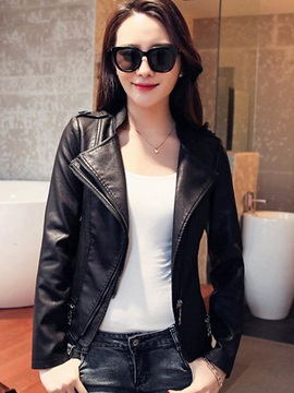 Slim Cool Zipper Decoration Double-Layer Jacket