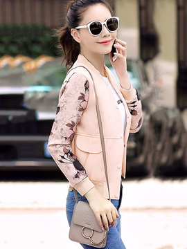 Casual Printed Sleeve Short Jacket