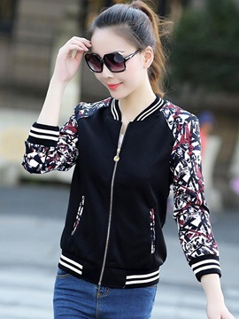 Stylish Print Sleeve Short Jacket