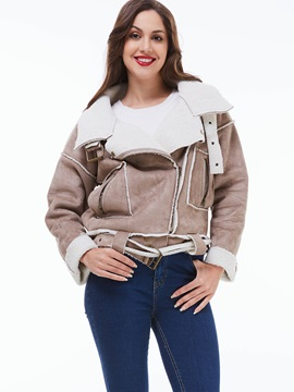 Stylish Zipper Patchwork Slim Jacket