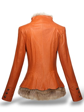 Winter Pu Fur Patchwork Women's Thick Jacket