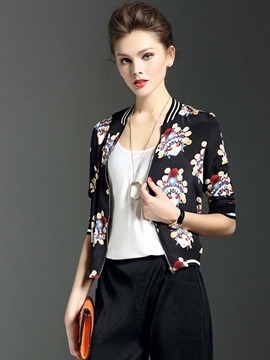 Stylish Print Thin Jacket