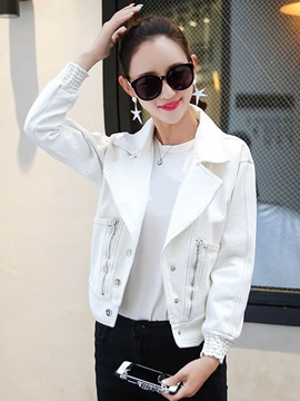 Slim Denim Lapel Jacket