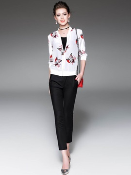 Slim Print Thin Jacket