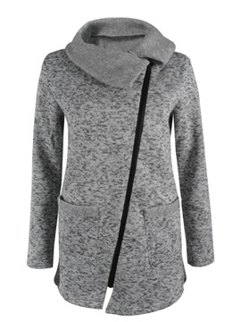Plus Size Side Zipper Jacket