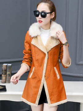 Lapel Long Sleeve Mid-Length Jacket